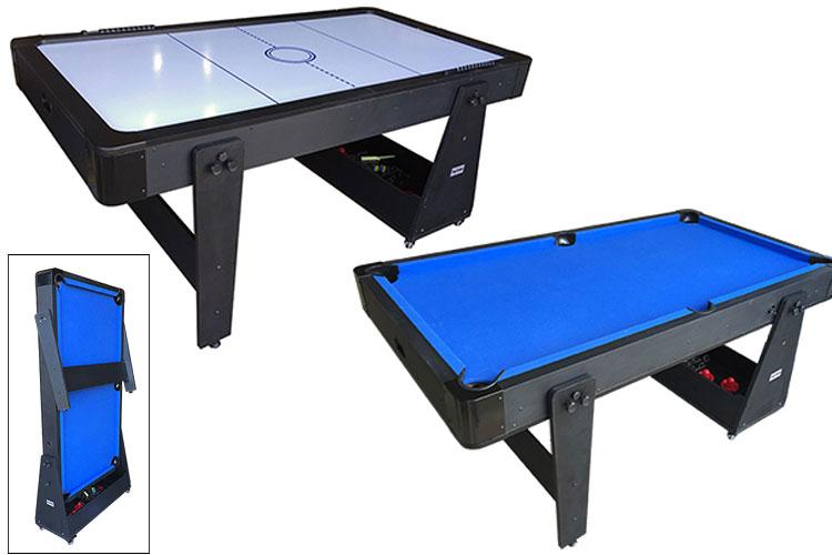 AC0035-BW: Airhockey/Pooltafel TopTable Twist 2-1 Max Mobile, Bleu-White  #1