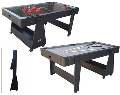 Airhockey/Pooltafel TopTable Twist 2-1 Max, Grey-Black