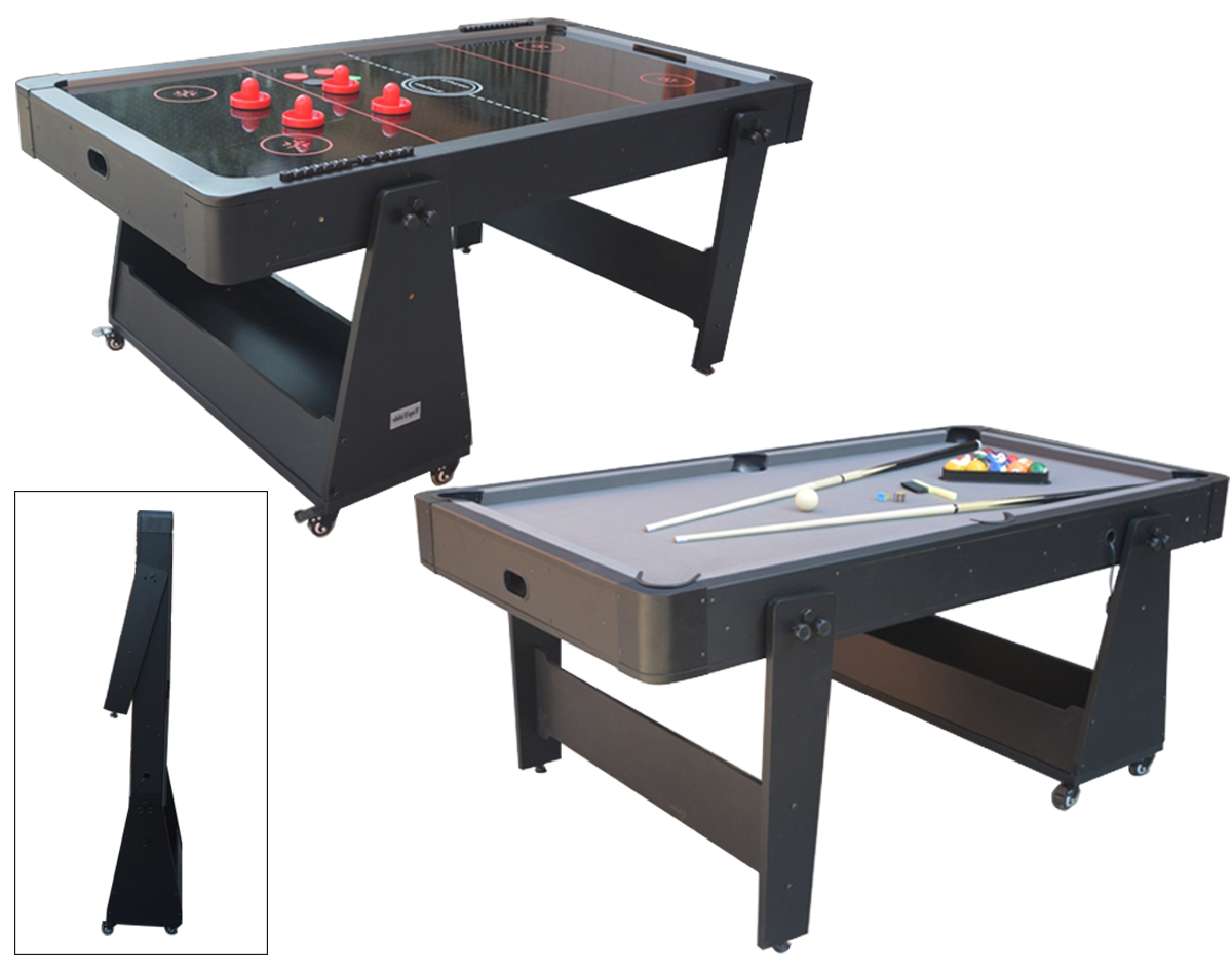 AC0035-GB: Airhockey/Pooltafel TopTable Twist 2-1 Max Mobile, Grey-Black  #1