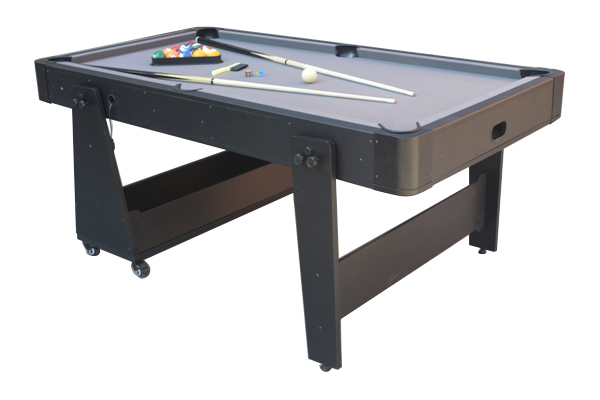 AC0035-GB: Airhockey/Pooltafel TopTable Twist 2-1 Max, Grey-Black
