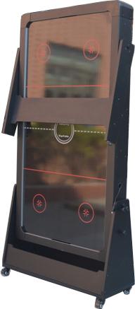 AC0035-GB: Airhockey/Pooltafel TopTable Twist 2-1 Max Mobile, Grey-Black  #7