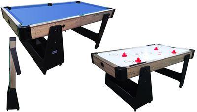 Airhockey/Pooltafel TopTable Twist 2-1 Max Mobile, Wood (*met schade)