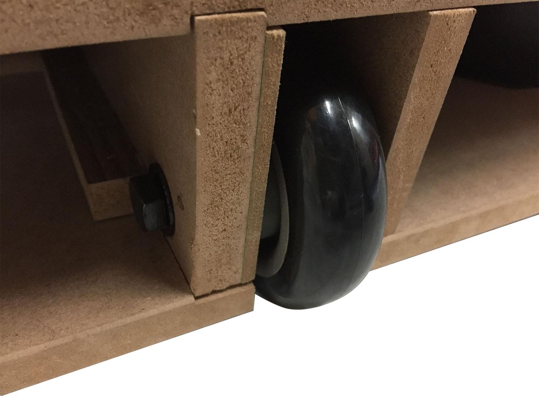 AC0055-BP: Airhockey TopTable Foldy-Carbon Black-Grey (inklapbaar) 6,5ft #6