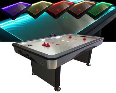 Airhockey TopTable Fast Flash Steel & Multi LED