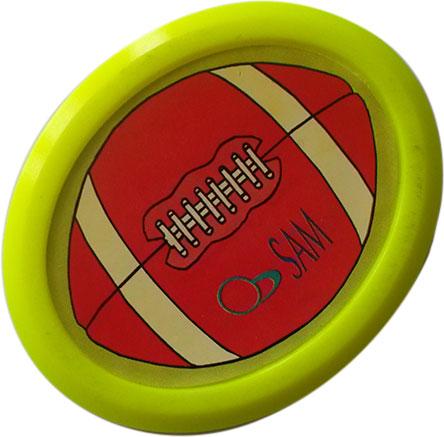 AC7132-YE: Sam Airhockey puck pro Rugby Yellow (ovaal) #1
