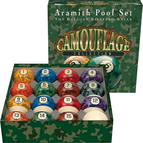 BA0462-CA: Aramith Camouflage Pool Set #1