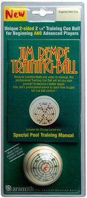 "Aramith ""Jim Rempe"" pool trainingsbal met boekje 57,2mm"