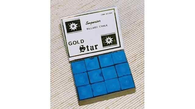 BA0504: biljart krijt Goldstar krijt 12 st. #1