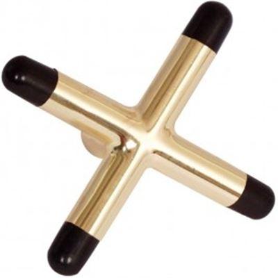 cross X brass