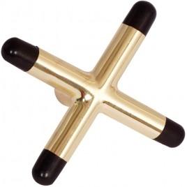 BA0558-BR: cross X brass #1