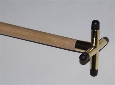 Rest compleet, cross brass gemonteerd op stok