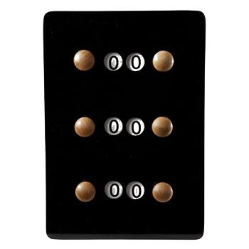 BA0762-ZW: score bord st. zwart #1