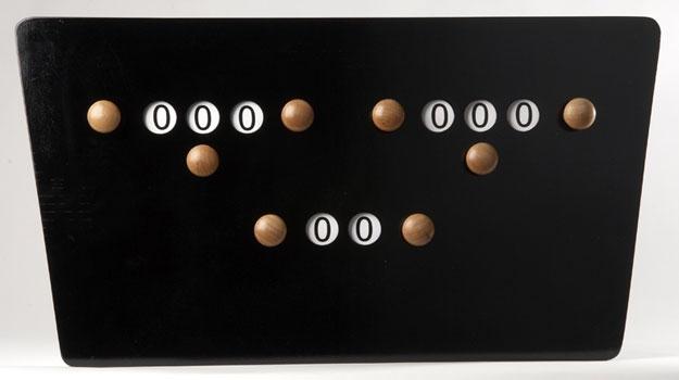 BA0764-ZW: score bord vlinder zwart #1