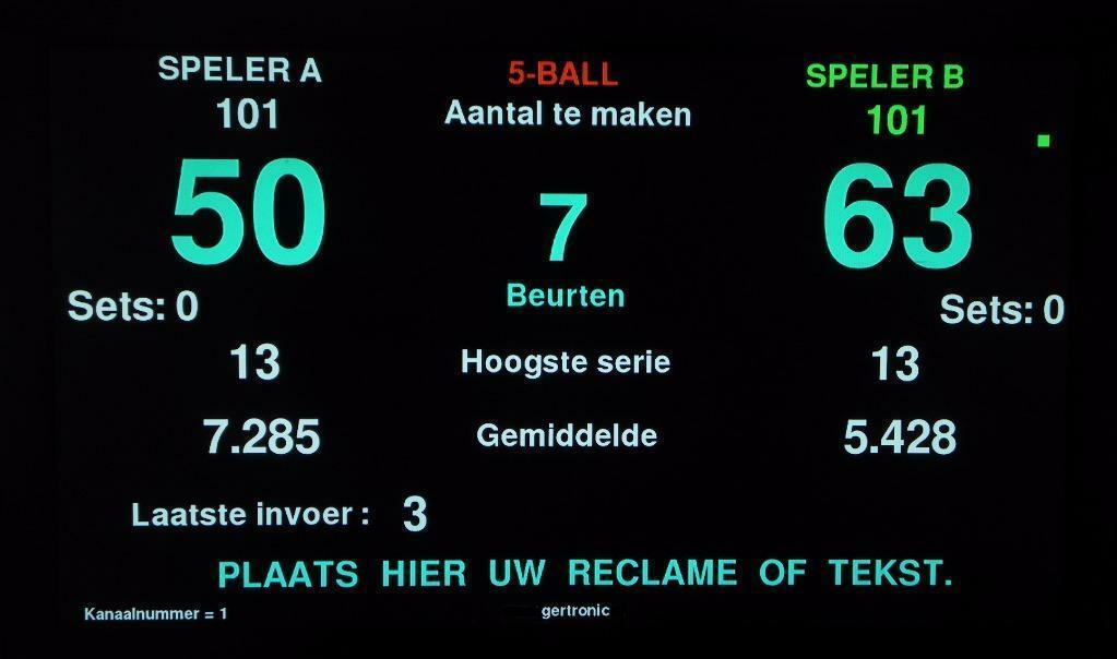BA0774: GERTRONIC biljart scorebord versie V3 PRO #3