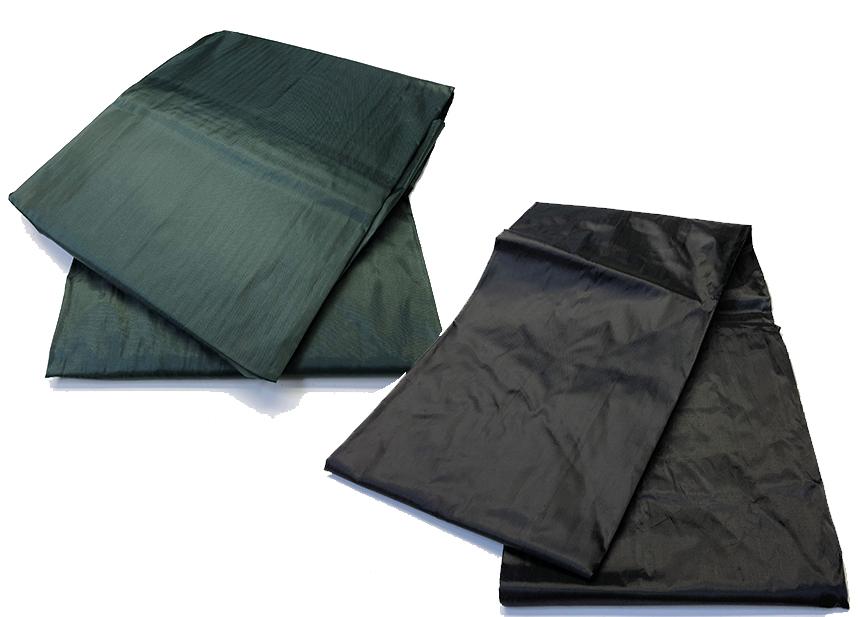 BA0823: Poolzeil - nylon + elastiek  groen/zwart 7ft/8ft/9ft #1