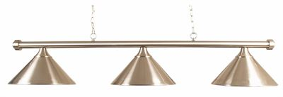 verlichting armatuur Style 3-shades brushed steel