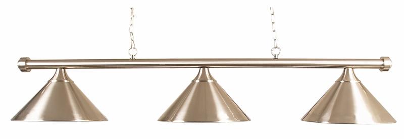 BA0837-RR: verlichting armatuur Lexor Style 3-shades brushed steel #1