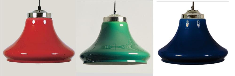 BA0840: klokmodel plexiglas blauw/rood/groen #1