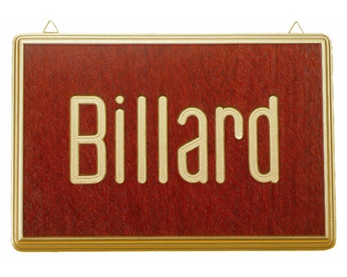 BA0874: Wandbord Motief Biljarter (1) #1