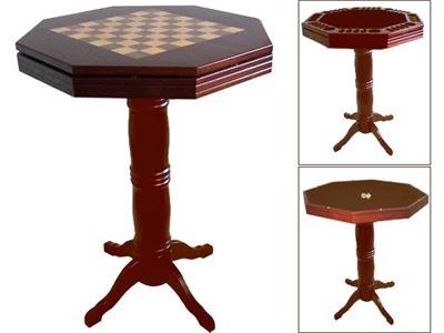 Luxe spellen/sta tafel classic dark-oak