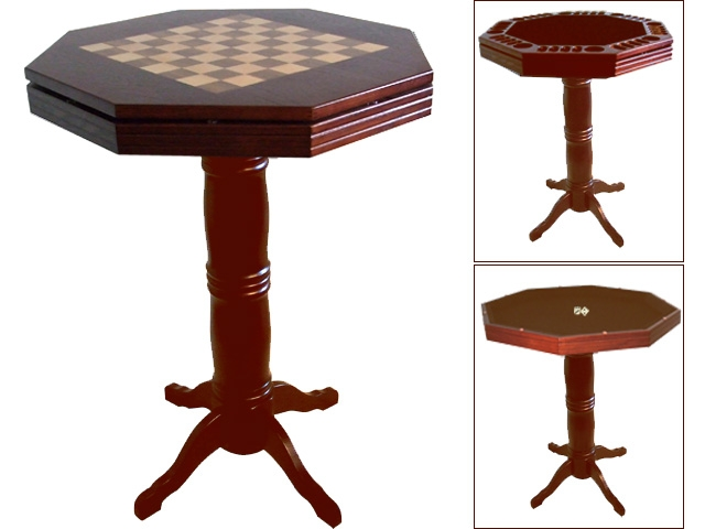 BM0190-DO: Luxe spellen/sta tafel classic dark-oak #1