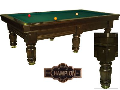 Wedstrijd carambole biljart Champion Classic Competition dark oak