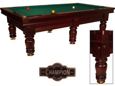 Nieuw wedstrijd biljart Champion Classic Competition dark cherry (*met lichte schade)