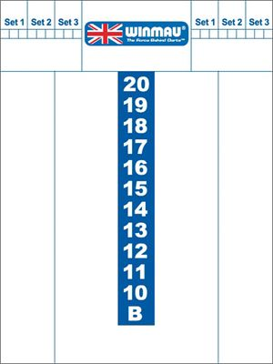 Whiteboard scoreb.Winmau 40x30