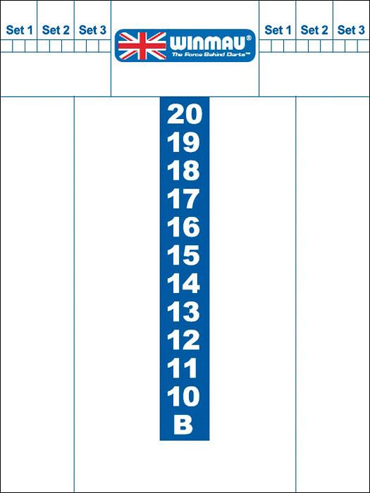 DA1101: Whiteboard scoreb.Winmau 40x30 #1