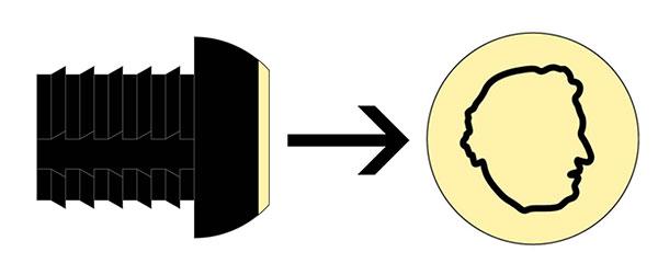 KA0158-2D: 2D rubberdop orgineel Raymond Ceulemans #1