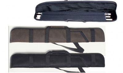 keu tas luxe angora  1/2 rood/zwart/bruin