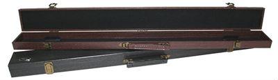 Q.KS 3 vaks koffer breed 1/2 donkergrijs of rood-bruin