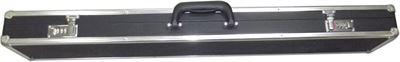 Luxe koffer zwart/alu 3 vak