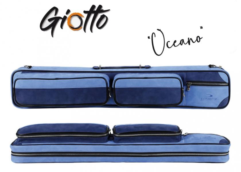 KT0695-OC: leren Keutas 4B/8S Longoni Giotto - Oceano #1