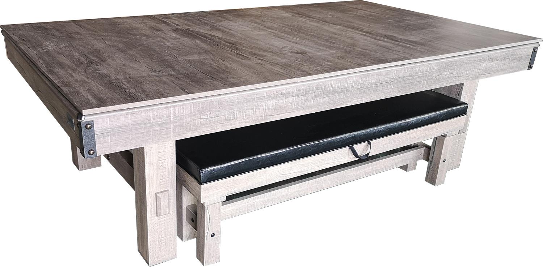 PC0058-6: Pooltafel TopTable Dinner Wood, met banken set #3
