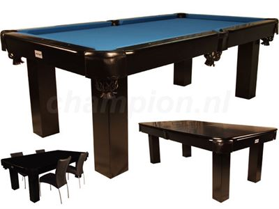 Pooltafel Toptable Dinner black