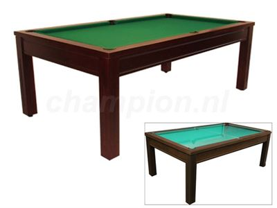 Pooltafel Toptable Cubic-Glass wenge, SCHADE