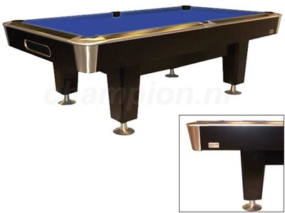 Pooltafel Lexor X-treme black-Chroom/RVS
