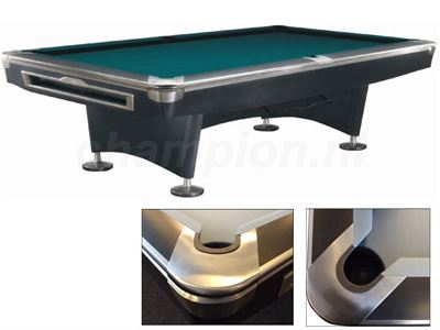 Pooltafel Lexor Competition Pro Black/RVS