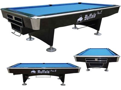 Pooltafel Buffalo Pro II Black droppocket
