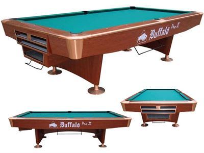 Pooltafel Buffalo Pro II brown droppocket