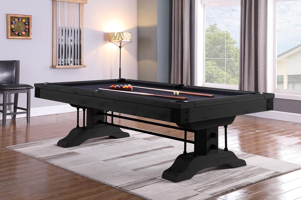 PC0366: Pooltafel Lexor Industrial Black-Oak #1