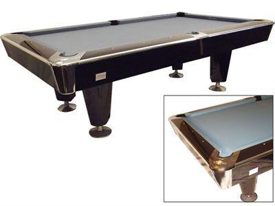 Pooltafel Lexor X-treme Glamour Piano Black-Chroom showmodel!