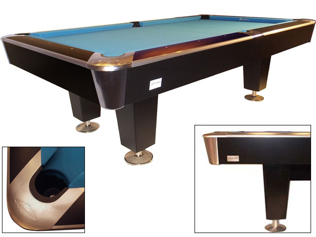 SC0110-PR: Snookertafel Lexor X-treme II Pro-series EPBF pockets, black-RVS  #1