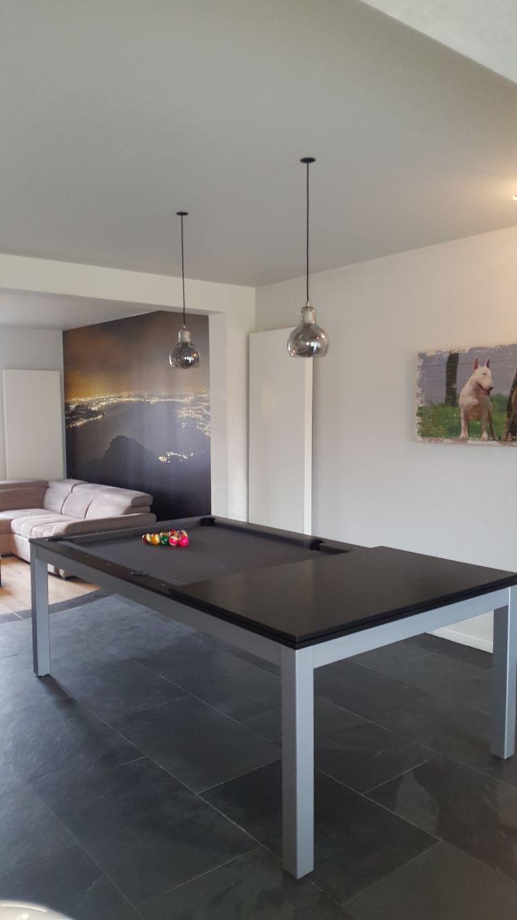 SC0125-6B: Snookertafel Lexor Dinner Black Oak, frame in white,silver or black #7