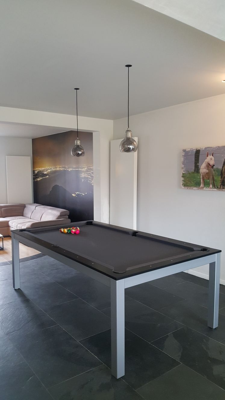 SC0125-6B: Snookertafel Lexor Dinner Black Oak, frame in white,silver or black #8