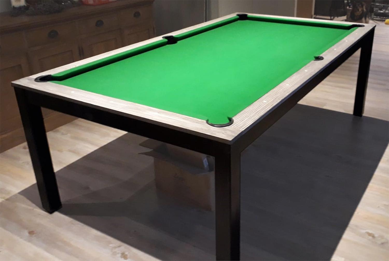 SC0125-6B: Snookertafel Lexor Dinner Black Oak, frame in white,silver or black #9