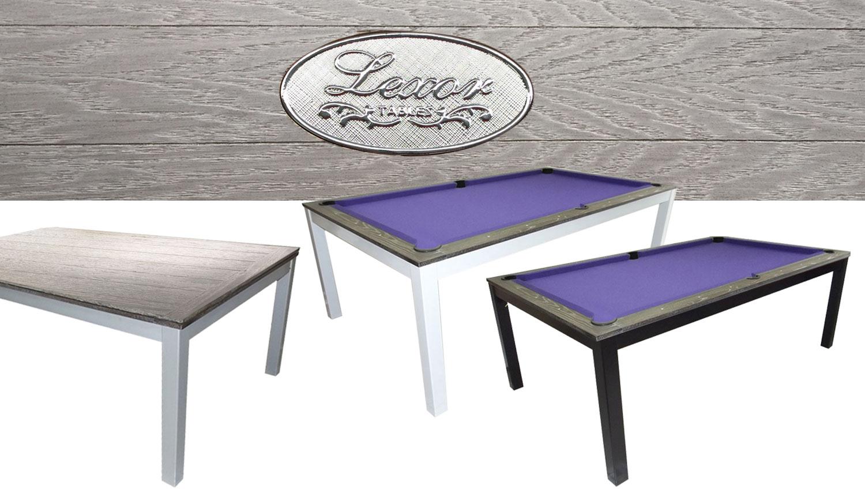 SC0125-6G: Snookertafel Lexor Dinner Brushed Gray, frame in white,silver or black #1