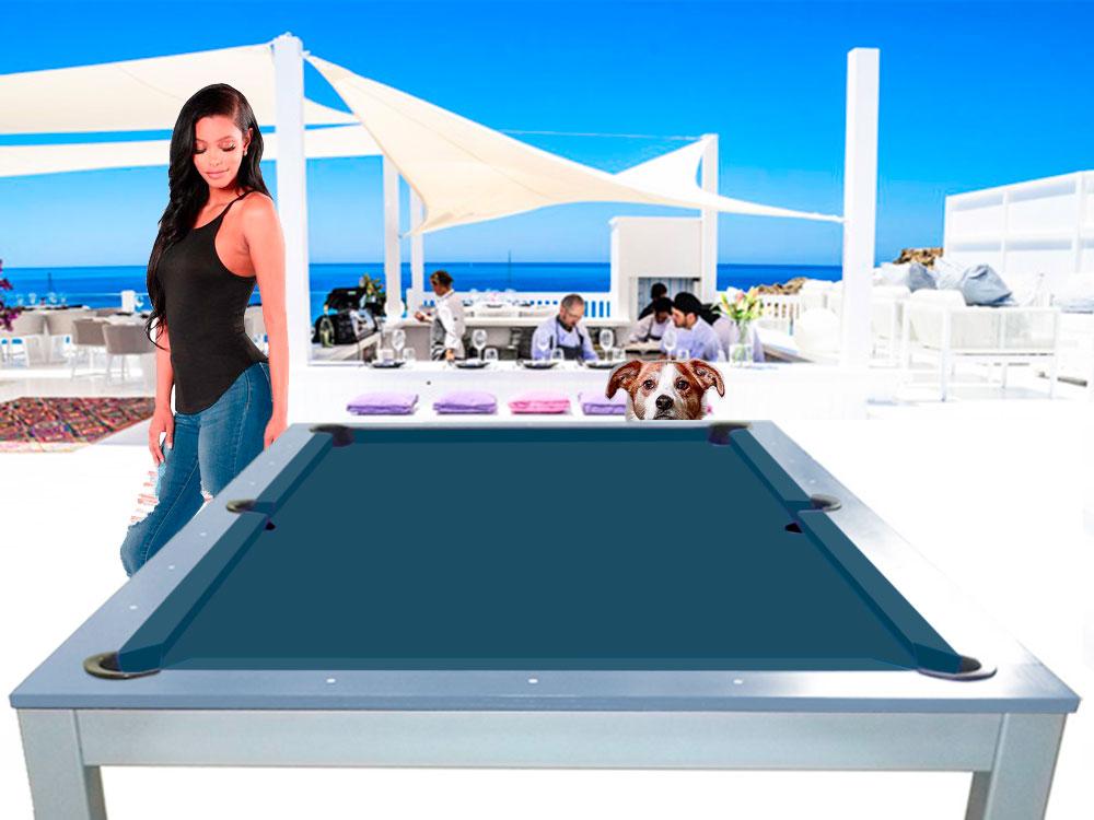 SC0125-6J: Snookertafel Lexor Dinner Ibiza Jeans, frame in white,silver or black #1