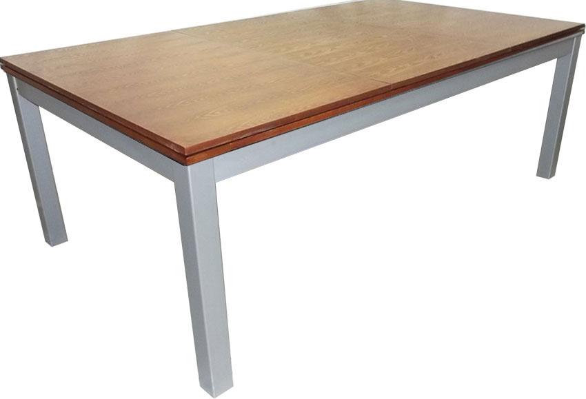 SC0125-6W: Snookertafel Lexor Dinner Walnut, frame in white,silver or black #2